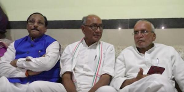पूर्व मुख्यमंत्री दिग्विजयसिंह ने प्रेस वार्ता में भाजपा को लिया आडे हाथ