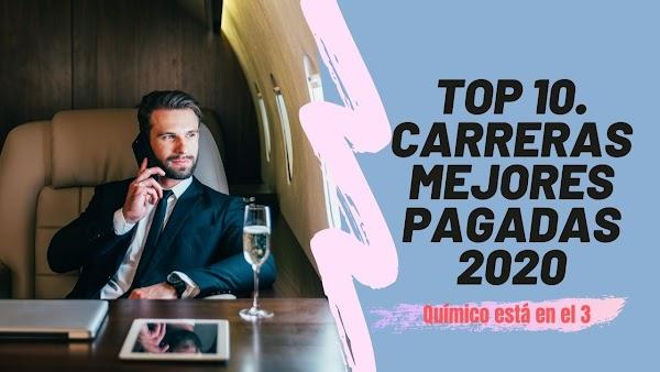 ▷ Top 10 Carreras MEJORES PAGADAS 2020 | Químico posición 3 | Rate: ⭐⭐⭐⭐⭐