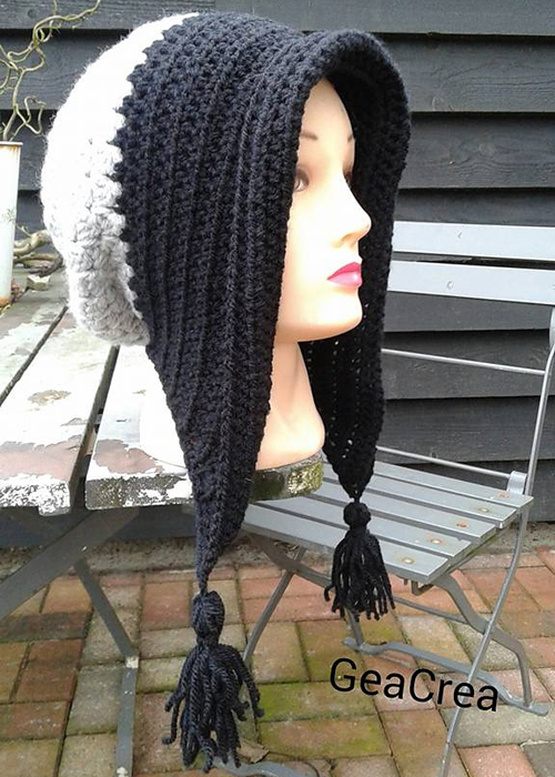 Winter Bonnet with Tassels - Free Pattern