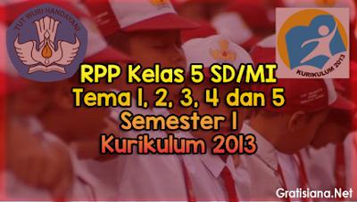 RPP Kelas 5 SD/MI Tema 1, 2, 3, 4 dan 5 Semester 1