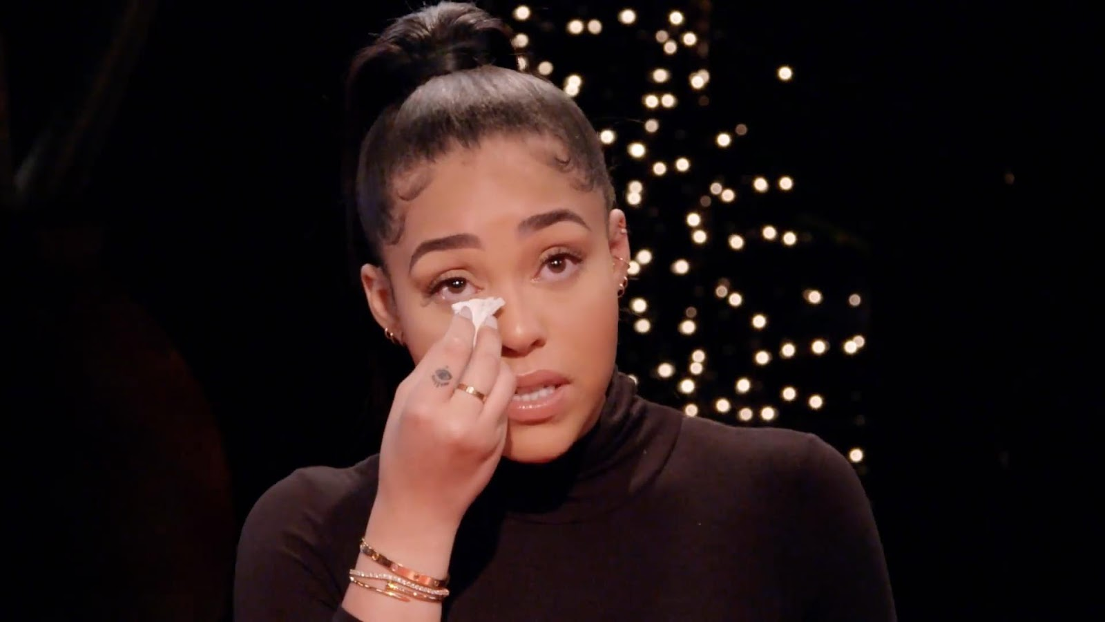 Jordyn Woods tearfully admits Tristan Thompson DID kiss her but declares she is 'no homewrecker' on Jada Pinkett Smith's Red Table Talk after his split from Khloe Kardashian