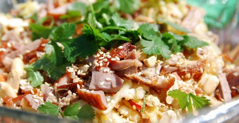 Duck and Cabbage Salad with Sesame and Peanuts