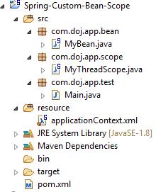 Create Custom Bean Scope in Spring Example