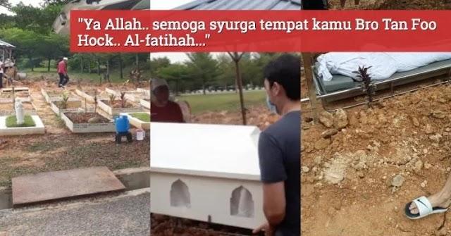 Lelaki bangsa cina meninggal dunia sehari selepas lafaz syahadah, peluk agama Islam