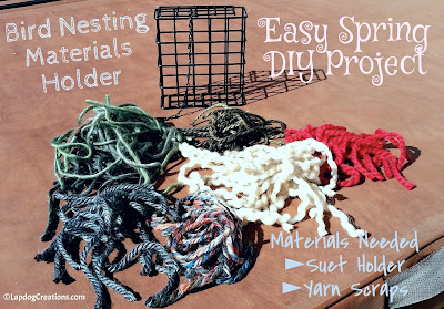 make your own bird nesting materials holder