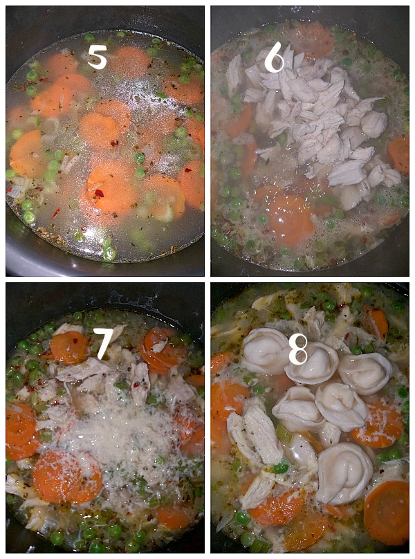how to make chicken and tortellini soup