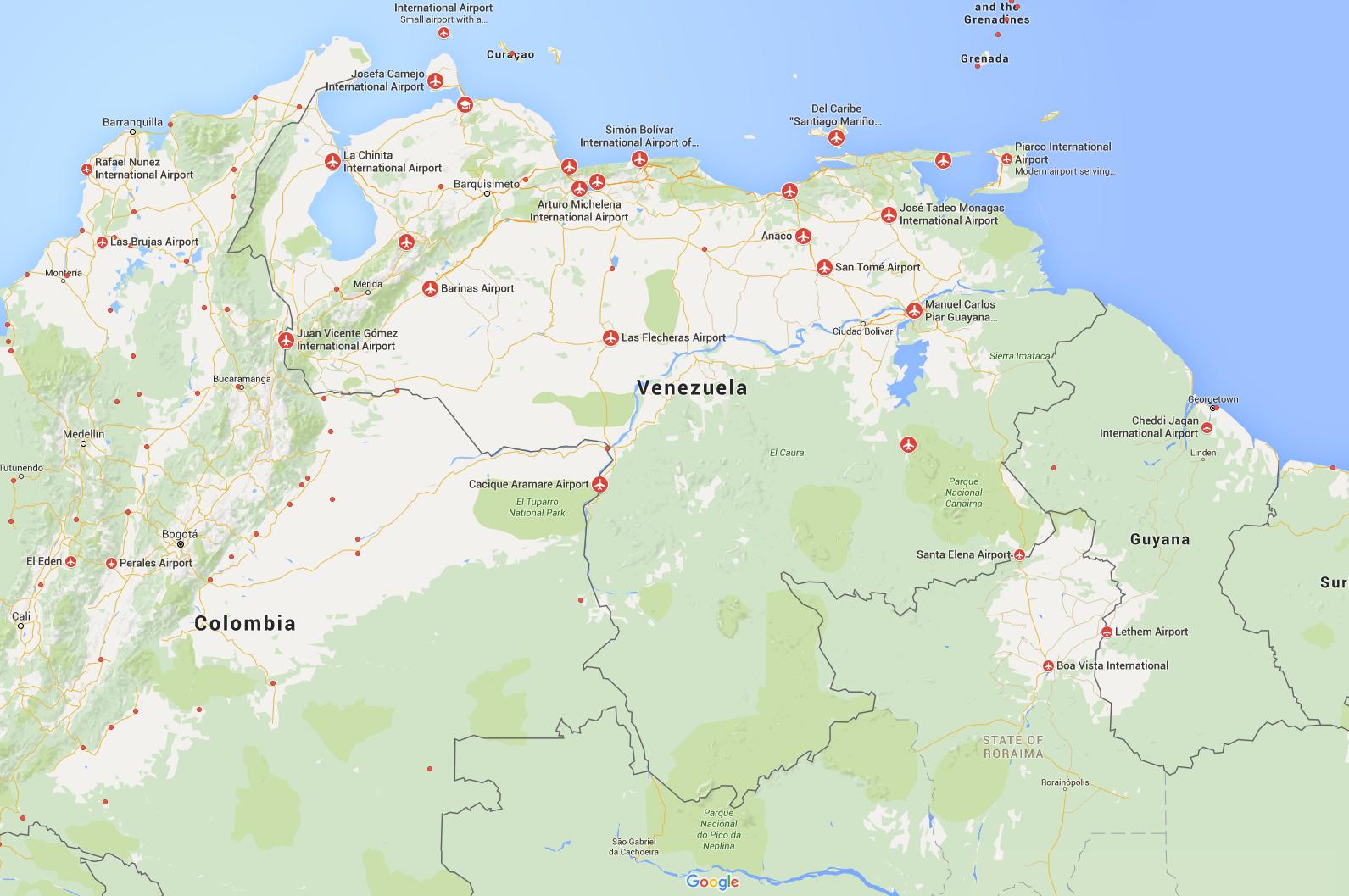 Airports Venezuela