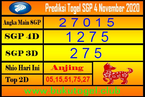 Syair Sgp 4 November 2020