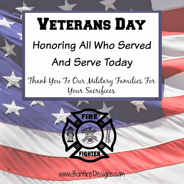Firefighters Honor Veterans Day