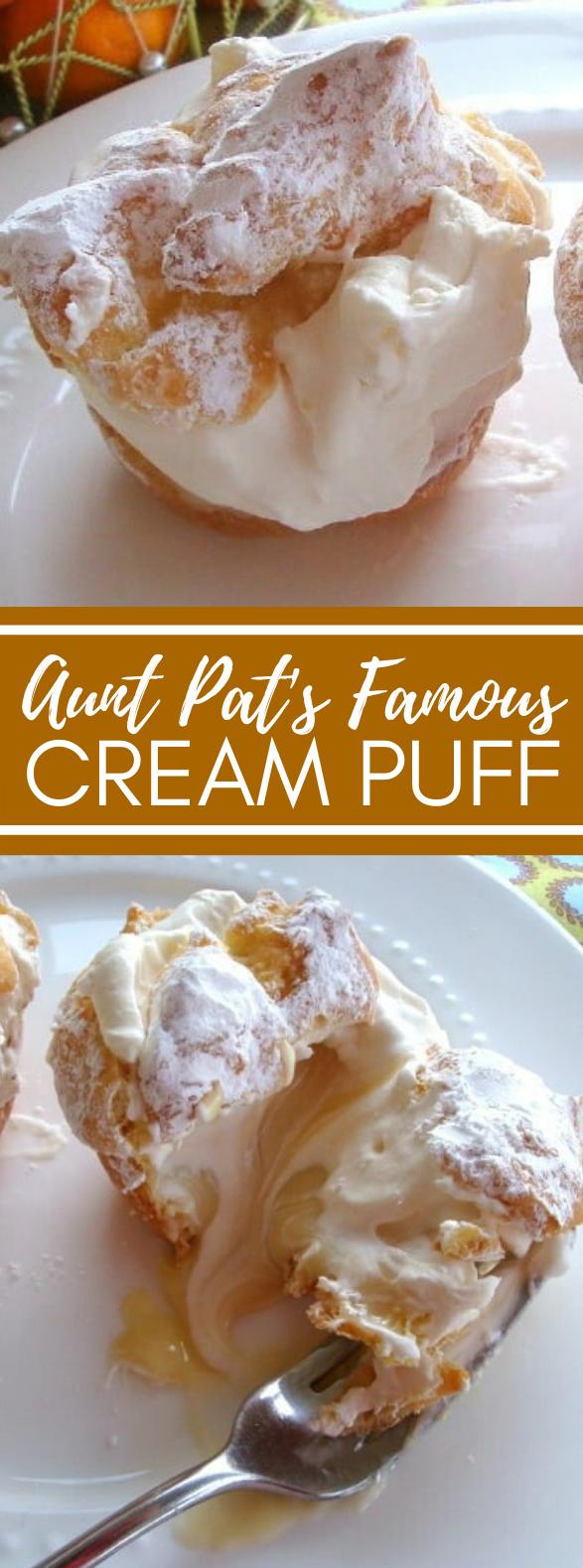 AUNT PAT'S FAMOUS CREAM PUFF RECIPE #desserts #sweets