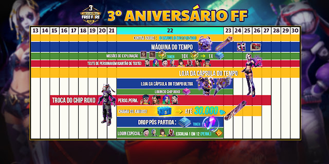 Patch Note Kalender Event Free Fire 3rd Anniversary Update