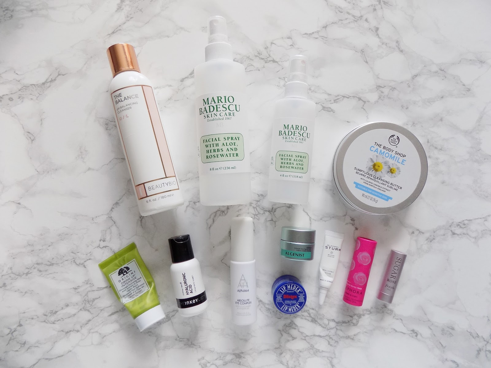 skincare empties review BeautyBio the balance Mario badescu origins