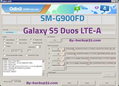 سوفت وير هاتف Galaxy S5 Duos LTE-A موديل SM-G900FD روم الاصلاح 4 ملفات تحميل مباشر