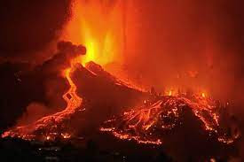 Lava pours from Canary Islands