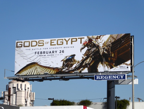 Gods of Egypt movie billboard