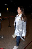 Neha Dhupia in Shirt Denim Spotted at Airport IMG 3540.JPG