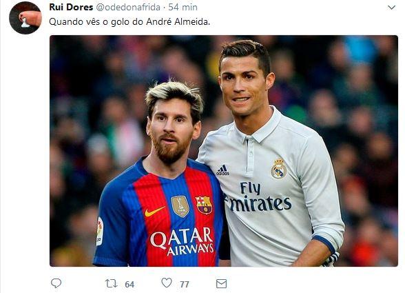 André Almeida Messi Cristiano Ronaldo