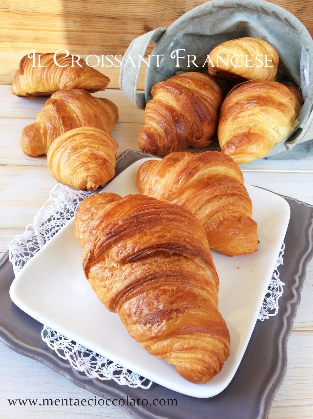 Ricetta Brioches Buonissime.Menta E Cioccolato Croissants Francesi Buonissimi