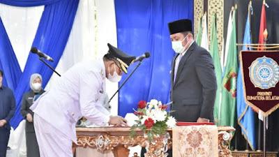 Gubernur Sumsel Lantik Langsung Bupati Muara Enim