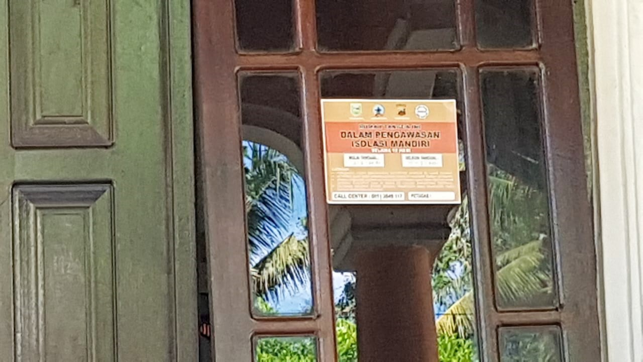 Rumah Warga Isolasi Mandiri di Ambal Ditempeli Stiker