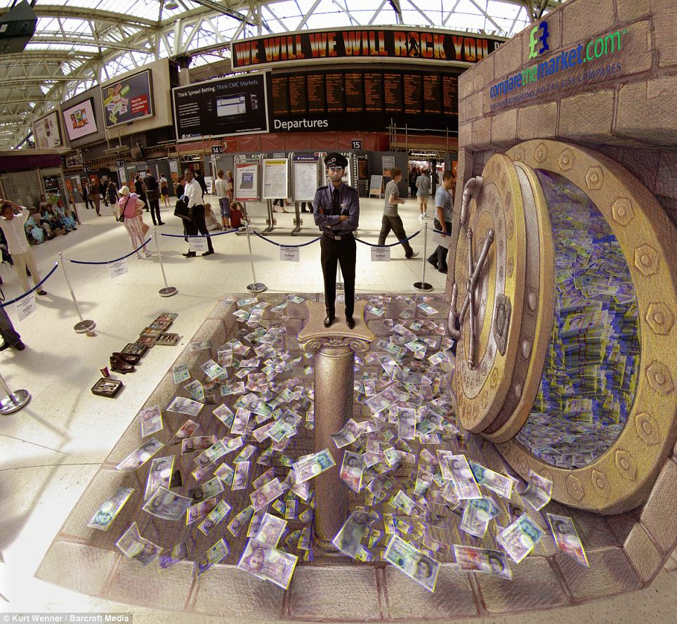 Incredible 3D Street Art By Kurt Wenner