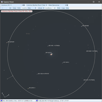 rho Orionis as shown in SkyTools 4 Pro