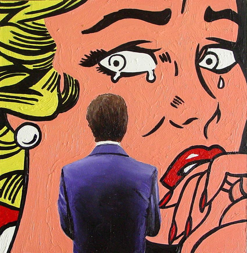 Roy Lichtenstein Pop Art - Drowning Girl