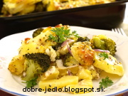 Zapekané zemiaky s brokolicou - recept