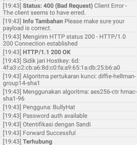 Cara membuat payload/Config Axis Hits 400 bad request Terbaru