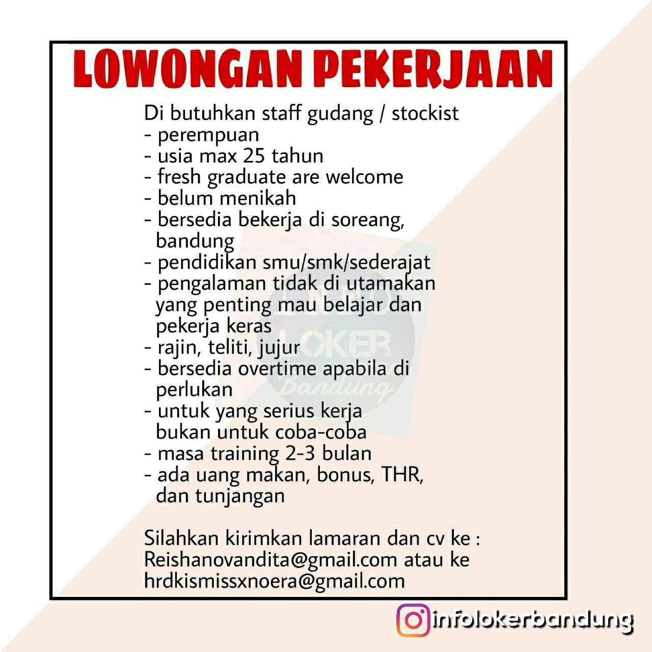 Lowongan Kerja Noera X Kismishop Bandung Oktober 2018