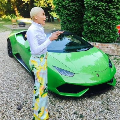 Photos: Wife of flamboyant Zimbabwean prophet shows off her new Lamborghini