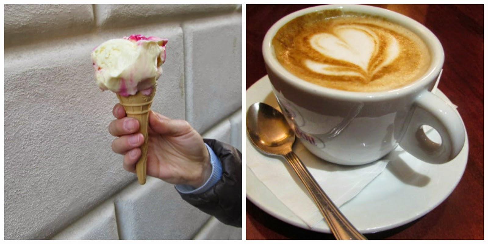 lody włoskie, cappuccino