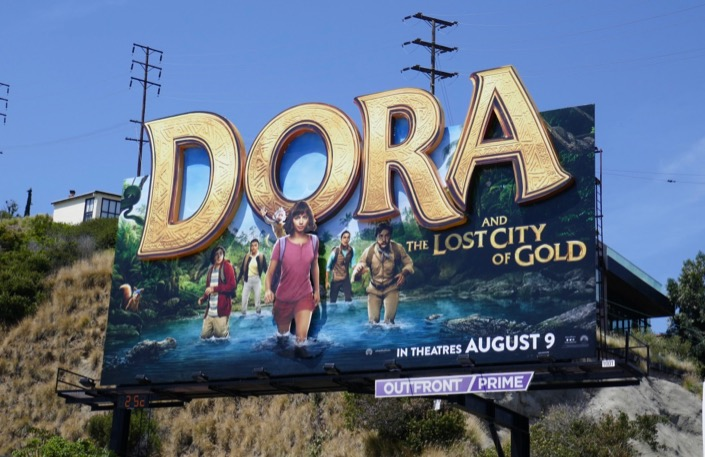 Dora and the Lost City of Gold 3D billboard