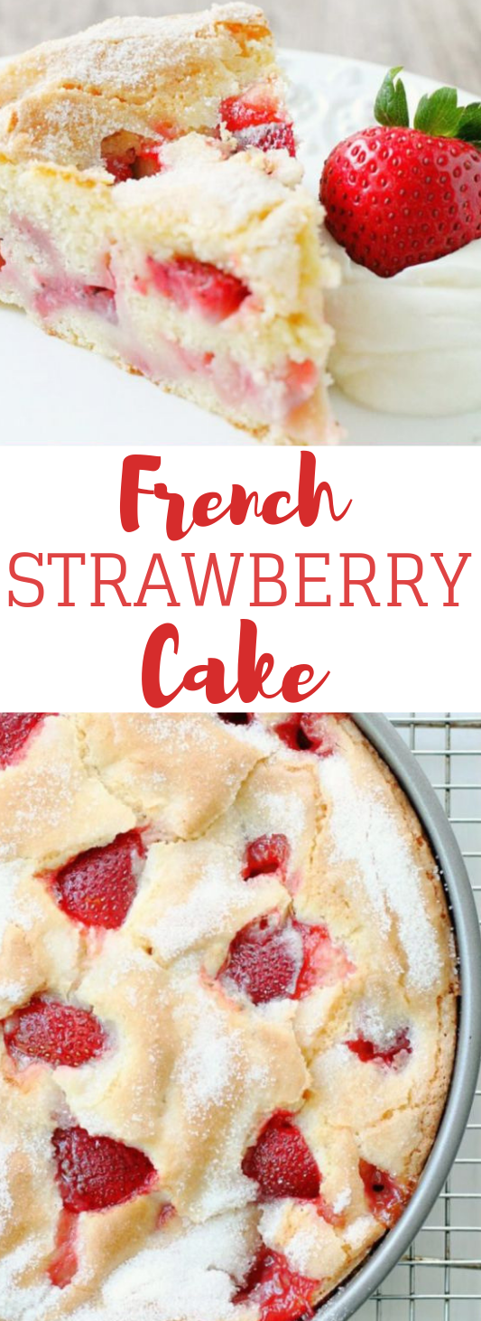 FRENCH STRAWBERRY CAKE #cake #dessert