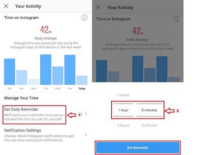 Cara Megaktifkan Fitur Your Activity Supaya Tidak Kecanduan Main Instagram
