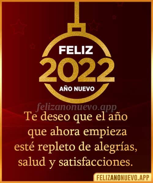 Mensajes bonitos para el año nuevo 2022