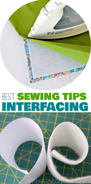 how to use interfacing: beginner sewing tips