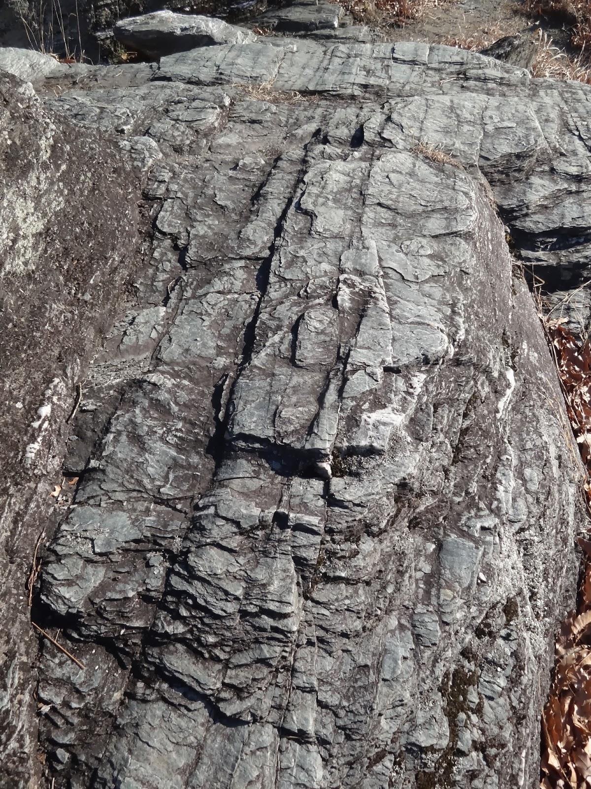野道 山道: 地層に見られる構造 平らな面 その3 片理・へきかい