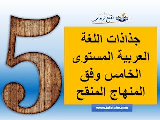 جذاذات اللغة العربية المستوى الخامس وفق المنهاج المنقح