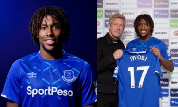 Alex Iwobi unveiled as an Everton player