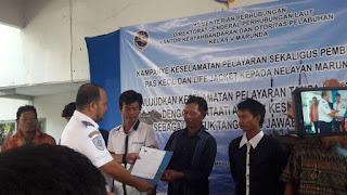 Terima Pas kecil, Nelayan Marunda : Terima Kasih Pak KSOP Marunda Dan Mitranya