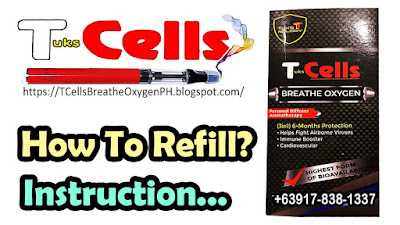 TCells Breathe Oxygen Personal Diffuser Refill Instruction
