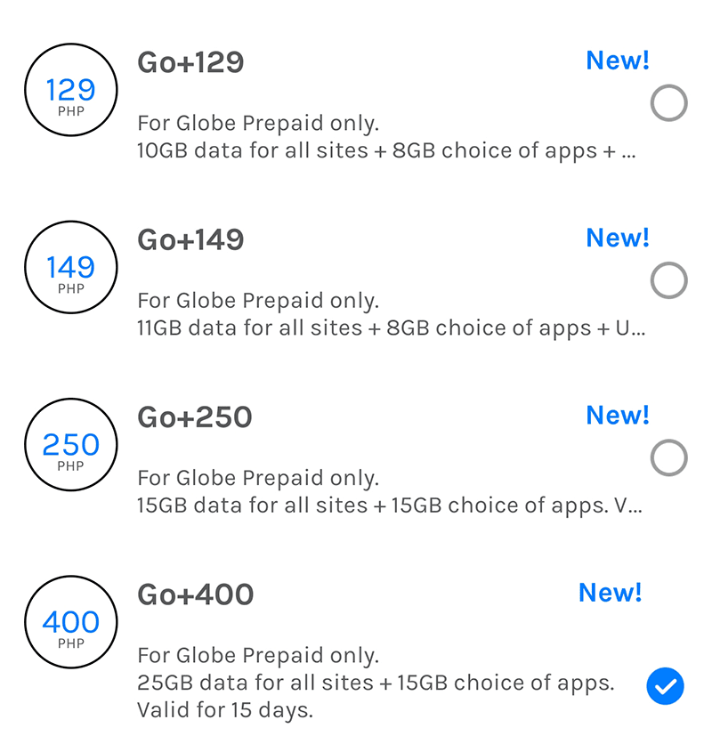 The new Go+ promos!