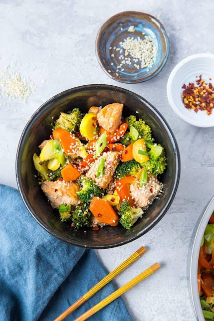 Salmon Stir Fry with Vegetables | The Roasted Root