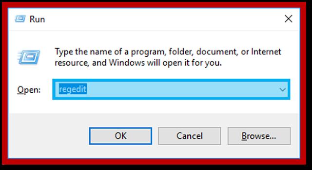 Buka Regedit di Windows Run
