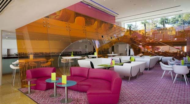 Hotel Semiramis is the most multi-colored hotel in the world that looks like a colorful candy shop. Mr. Karim Rashid is a person behind hit, who owned more than 300 awards.