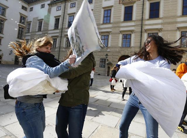 World International Pillow Fight Day was as fun around the World