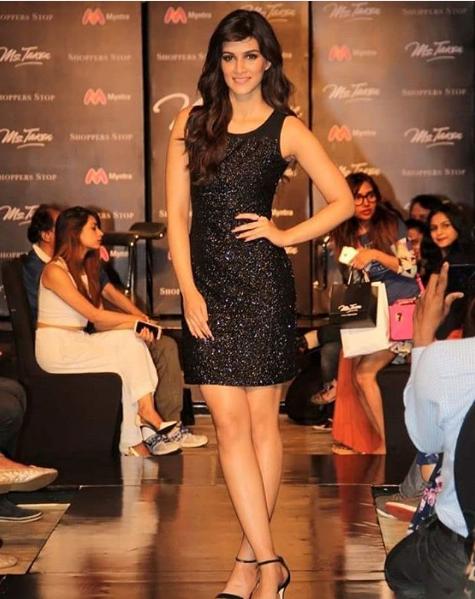 eb9cabbfcdbb4f Kriti was the showstopper herself and she walked the ramp wearing a sexy  shimmery black dress. Kriti has taken fashion inspiration from Deepika  Padukone, ...