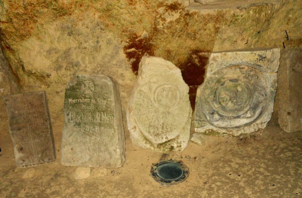 grote oorlog in aisne, chemin des dames, ondergronds kerkhof