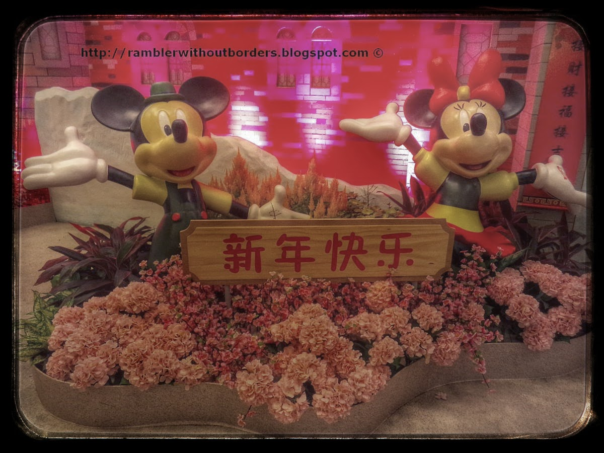 Mickey and Minnie in a CNY display, Singapore Changi Airport